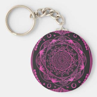Porte-clés Roses indien, réveillant le motif de zen,