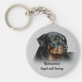 Porte-clés Rottweilers loyaux et porte - clé affectueux