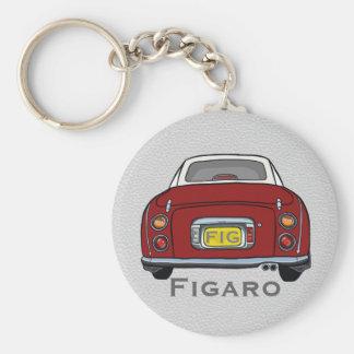 Porte-clés rouge de coutume de voiture de Nissan
