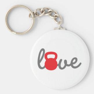 Porte-clés Rouge de Kettlebell d'amour