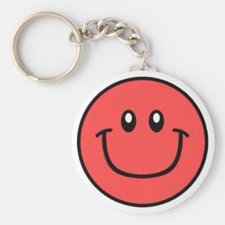 Porte-clés Rouge de sourire 0003 de porte - clé de visage