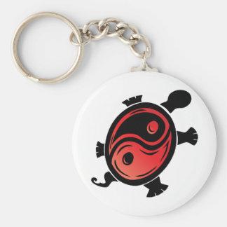 Porte-clés Rouge-n-Noir-Yin-Yang-Tortue
