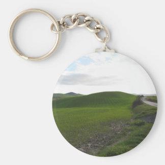 Porte-clés Route de campagne au-dessus de rouler les collines