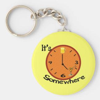 Porte-clés Sa cinq heures quelque part
