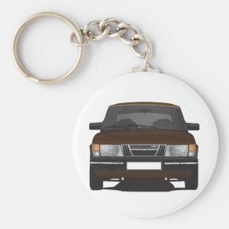 Porte-clés Saab 900 turbo (brun)