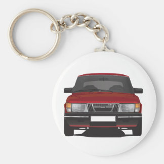 Porte-clés Saab 900 turbo (rouge)