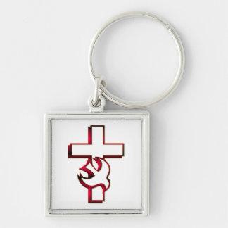 Porte-clés Saint-Esprit croisé et/Saint-Esprit