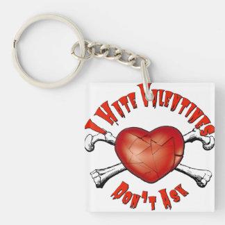 Porte-clés Saint-Valentin de haine des Anti-Valentines I ; Ne