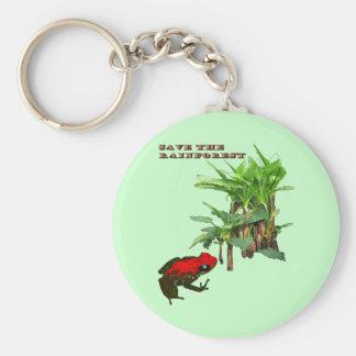 Porte-clés Sauvez la forêt tropicale