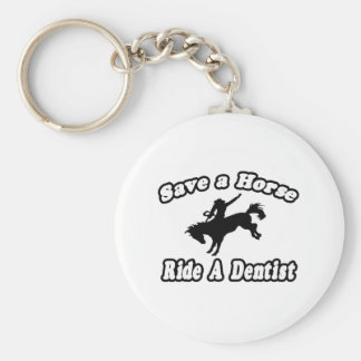 Porte-clés Sauvez le cheval, dentiste de tour