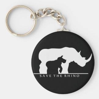 Porte-clés Sauvez le rhinocéros