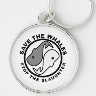 Porte-clés Sauvez les baleines - droits des animaux