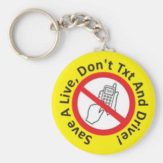 Porte-clés Sauvez un vivant, ne faites pas porte - clé de txt