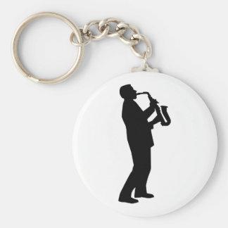 Porte-clés Saxophoniste de joueur de saxophone