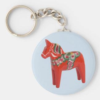 Porte-clés Scandinave de cheval de Dala de Suédois