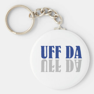 Porte-clés Scandinave drôle d'UFF DA