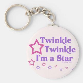 Porte-clés Scintillement de scintillement je suis une étoile