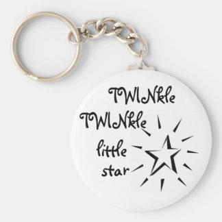 Porte-clés Scintillement de scintillement peu d'étoile