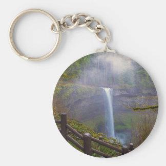 Porte-clés Sentiers de randonnée au parc d'état argenté