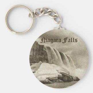 Porte-clés Sépia antique de chutes du Niagara