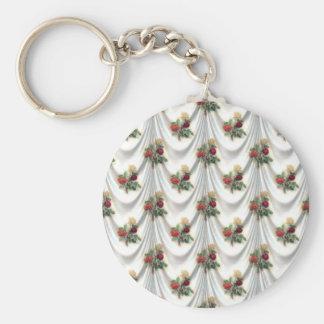 Porte-clés s'est levé floral, art, conception, beau,