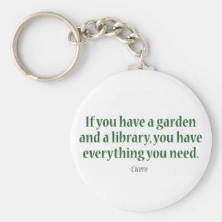 Porte-clés Si vous avez un jardin et une bibliothèque