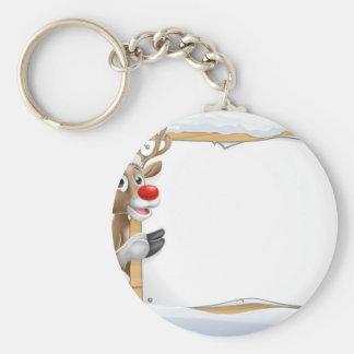 Porte-clés Signe de Noël de renne de casquette de Père Noël