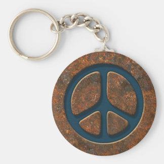 Porte-clés Signe de paix rouillé