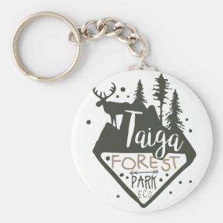 Porte-clés Signe de promo de parc d'eco de forêt de Taiga