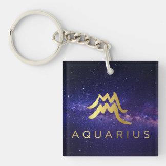 Porte-clés Signe de zodiaque de Verseau - porte - clé