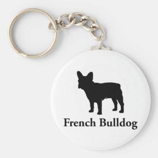Porte-clés Silhouette de bouledogue français