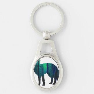 Porte-clés Silhouette de Fox - renard de forêt - art de