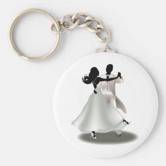 Porte-clés Silhouette d'un couple de danse