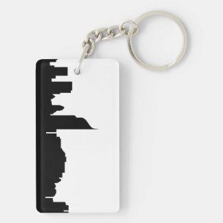 Porte-clés silhouette Indonésie d'horizon de ville de Jakarta