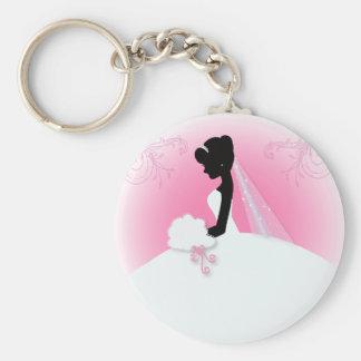 Porte-clés Silhouette nuptiale de jeune mariée de Mme Right