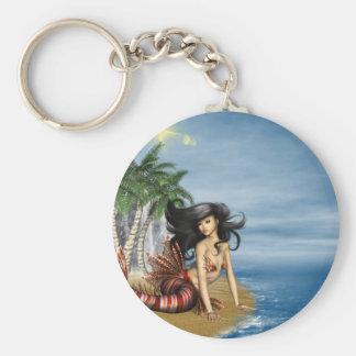 Porte-clés Sirène sur le porte - clé de plage
