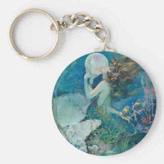 Porte-clés Sirène vintage tenant la perle