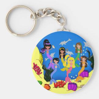 Porte-clés Sirènes dans l'océan avec le porte - clé de
