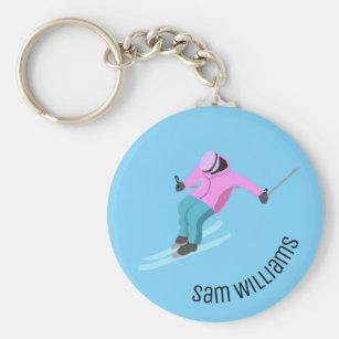 Coloré skis porte-clés Ski Ski Sports d/'Hiver Amusant porte-clés Cadeau #12453
