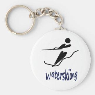 Porte-clés Ski nautique - conception universelle de symbole