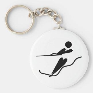 Porte-clés Skieur de l'eau - ski d'eau