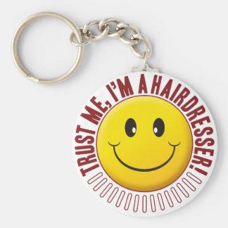 Porte-clés Smiley de confiance de coiffeur