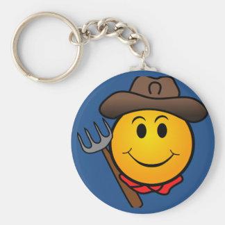 Porte-clés Smiley de cowboy