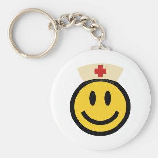 Porte-clés Smiley d'infirmière