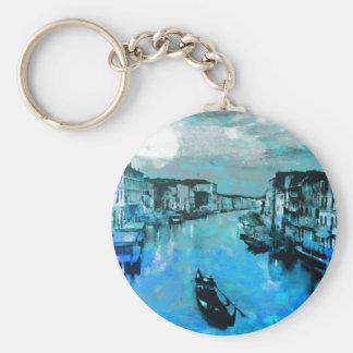 Porte-clés Soie bleue en italien