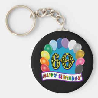 Porte-clés soixantième L'anniversaire monte en ballon le