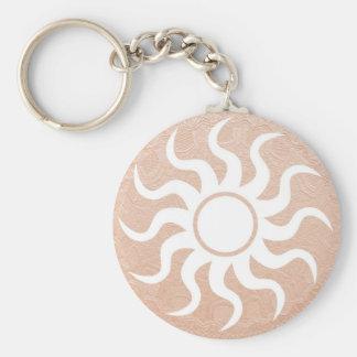 Porte-clés SOLEIL et bijoux sur l'aluminium de relief d'or