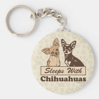 Porte-clés Sommeils avec des chiwawas