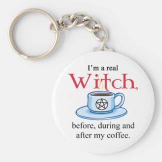 Porte-clés sorcière de café de porte - clé