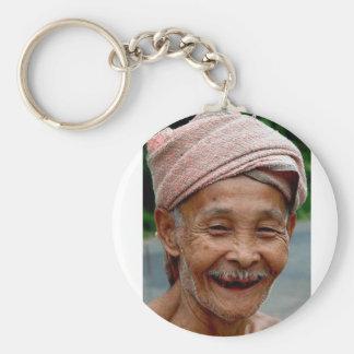 Porte-clés sourire de vieil homme